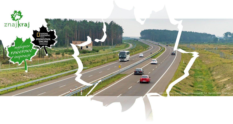 Szlak rowerowy przecina drogę ekspresową S6