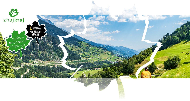 Szlak rowerowy w Alpach w Szwajcarii