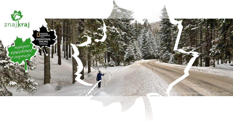 Szlak wzdłuż szosy w Dolinie Zuberskiej