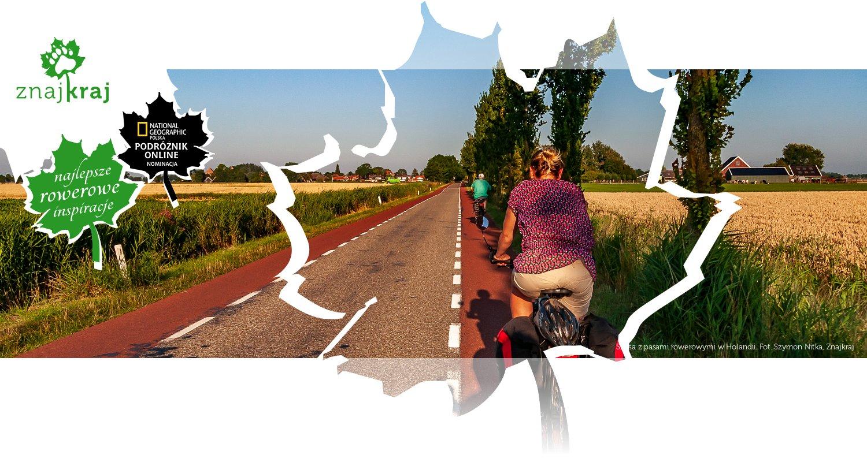 Szosa z pasami rowerowymi w Holandii