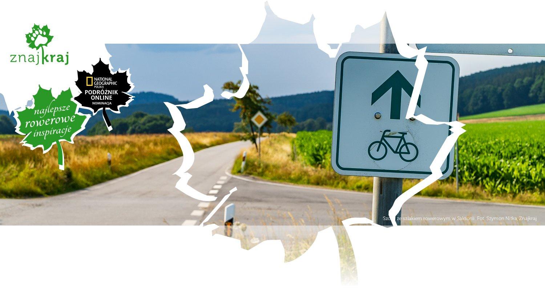 Szosa ze szlakiem rowerowym w Saksonii