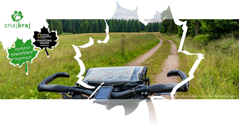 Szutrowa droga w lesie w Rudawach