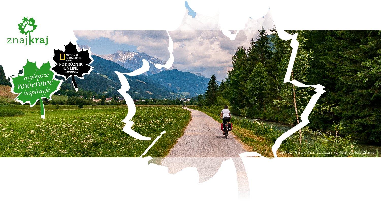 Szutrowa trasa w Alpach w Austrii