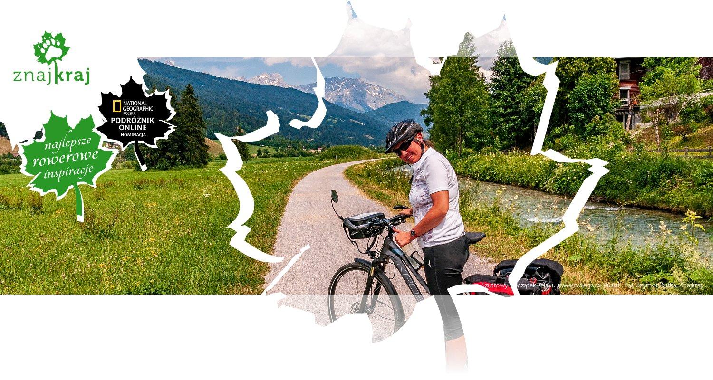 Szutrowy początek szlaku rowerowego w Austrii