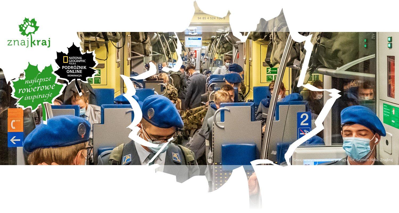 Szwajcarscy rezerwiści w pociągu