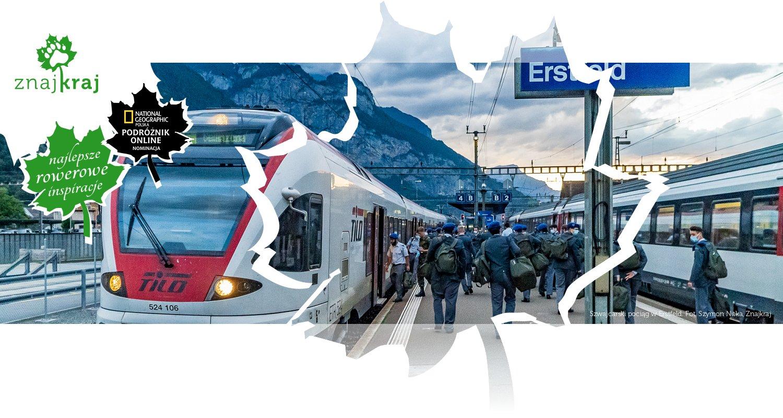 Szwajcarski pociąg w Erstfeld
