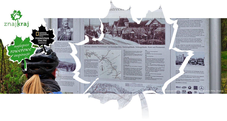 Tablica informacyjna przed dworcem w Joachimsthal