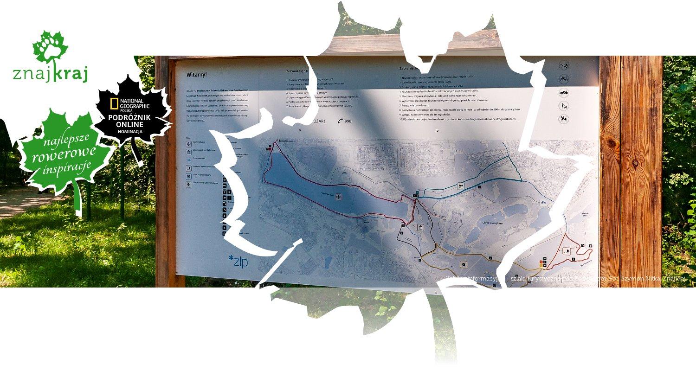 Tablica informacyjna - szlaki turystyczne pod Poznaniem
