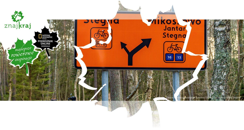 Tablica informacyjna szlaków EuroVelo 10 i R10