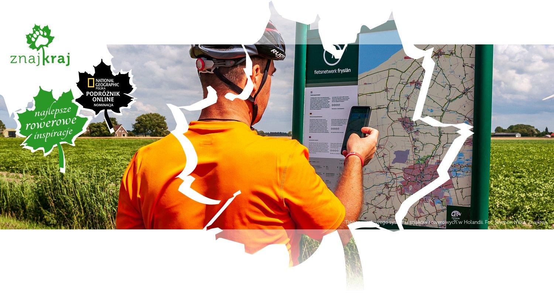 Tablica węzłowego systemu szlaków rowerowych w Holandii