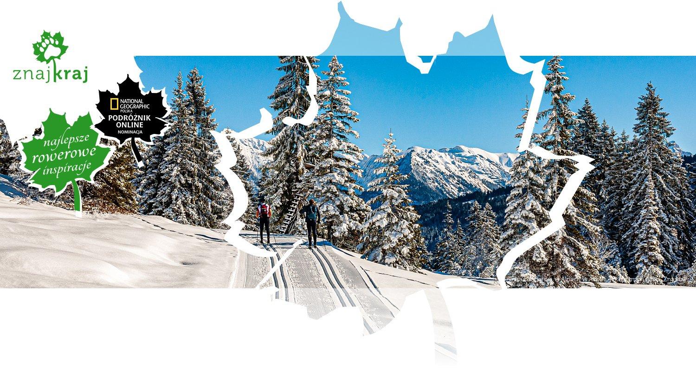 Trasa narciarska w Alpach w Austrii