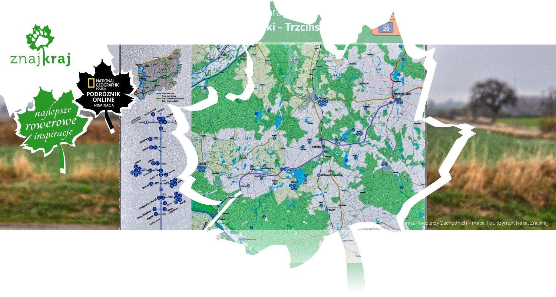 Trasa Pojezierzy Zachodnich - mapa
