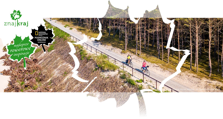 Trasa rowerowa koło Krynicy Morskiej na Mierzei Wiślanej