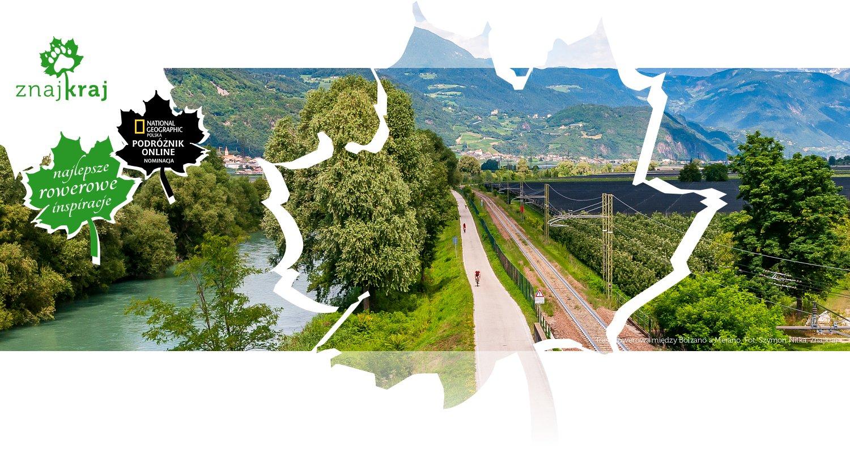 Trasa rowerowa między Bolzano a Merano