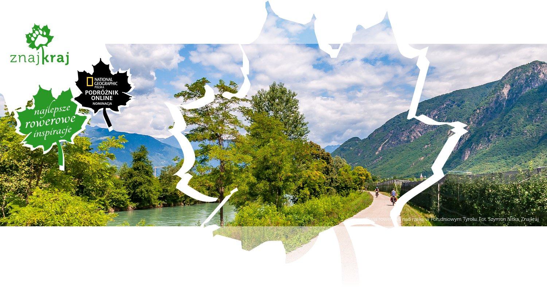 Trasa rowerowa nad rzeką w Południowym Tyrolu