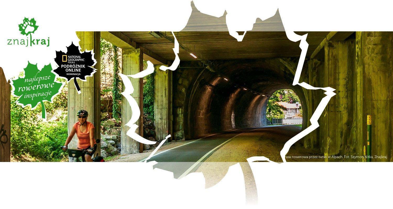 Trasa rowerowa przez tunel w Alpach