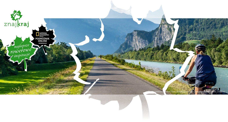 Trasa rowerowa wzdłuż Renu Alpejskiego w Szwajcarii