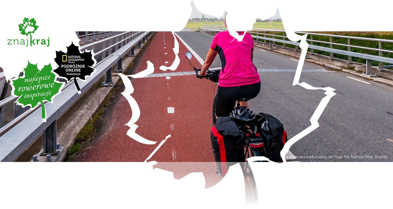 Trasa rowerowa wzdłuż szosy we Fryzji