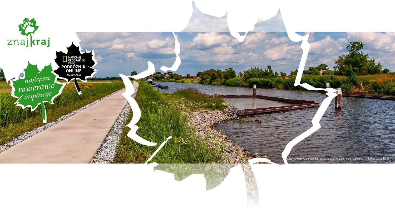 Trasa rowerwa nad kanałem we Fryzji