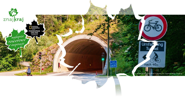 Tunel i objazd dla rowerzystów w Austrii