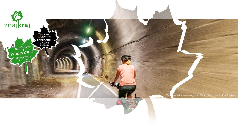 Tunel na drodze rowerowej przed Bolzano