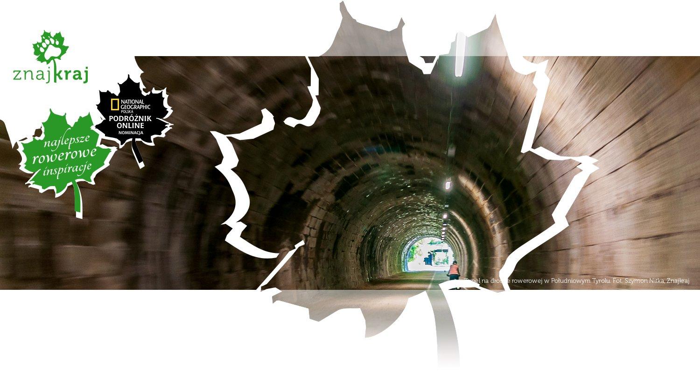 Tunel na drodze rowerowej w Południowym Tyrolu
