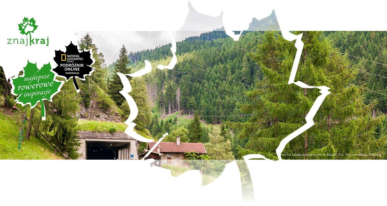 Tunel na szlaku rowerowym w Alpach