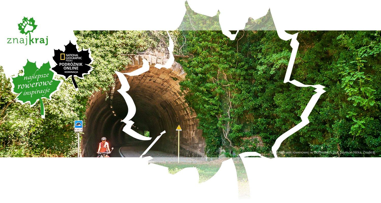 Tunel na trasie rowerowej w Dolomitach