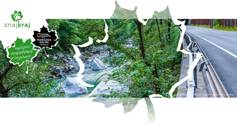 Turkusowe wody i białe skały rzeki Enns
