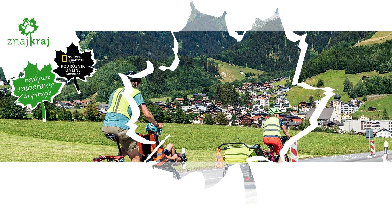 Turyści rowerowi w Alpach Szwajcarskich