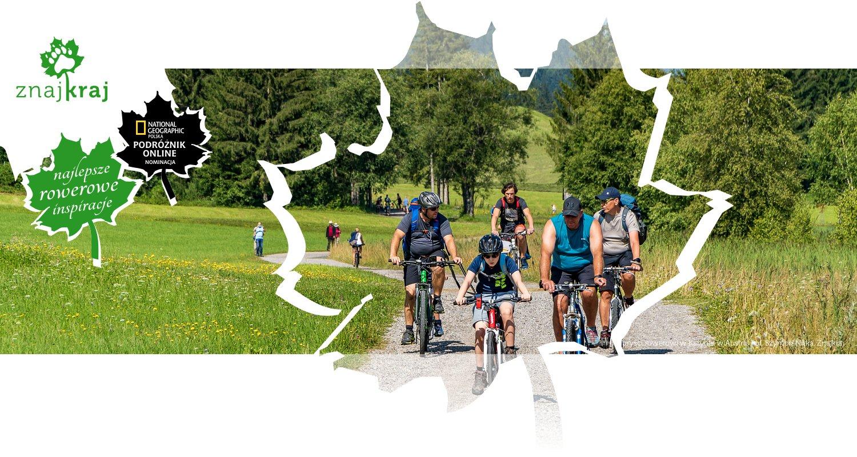 Turyści rowerowi w Karyntii w Austrii