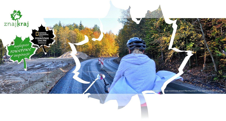 Tymczasowa droga rowerowa przed Miechucinem