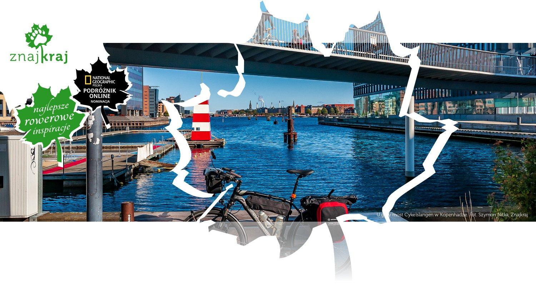 U góry most Cykelslangen w Kopenhadze