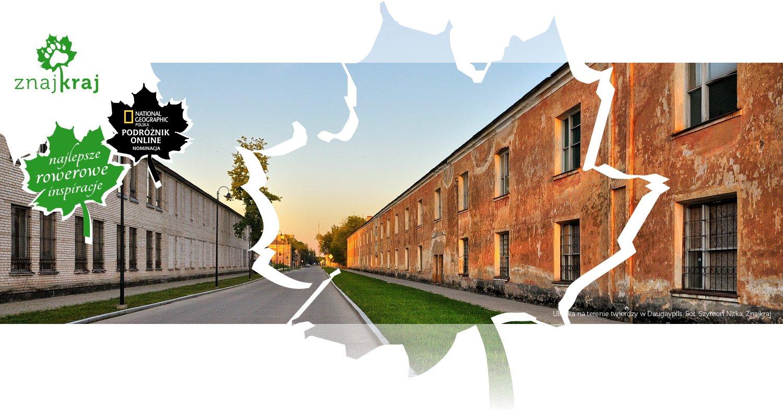 Uliczka na terenie twierdzy w Daugavpils