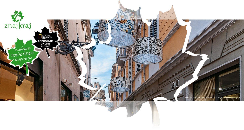 Uliczna dekoracja w Parmie