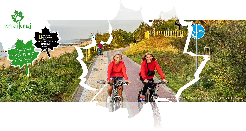 Uśmiechnięte rowerzystki na EuroVelo 10 koło Kołobrzegu