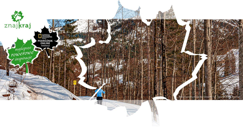 Utrzymywana droga dla narciarzy