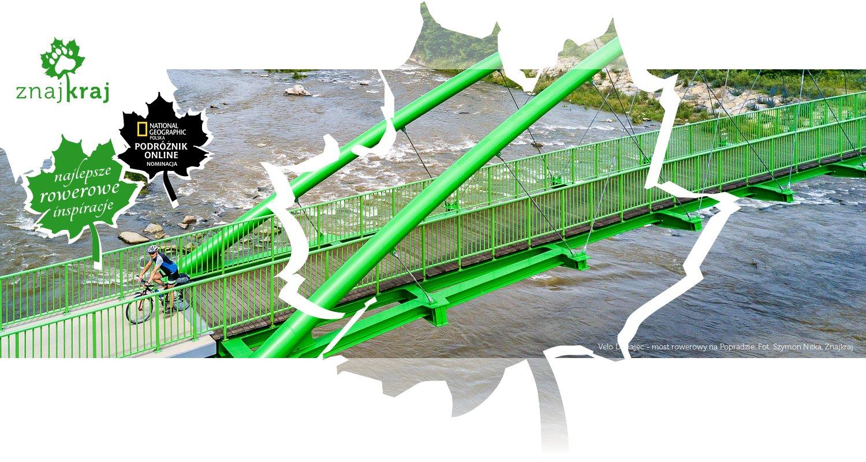 Velo Dunajec - most rowerowy na Popradzie