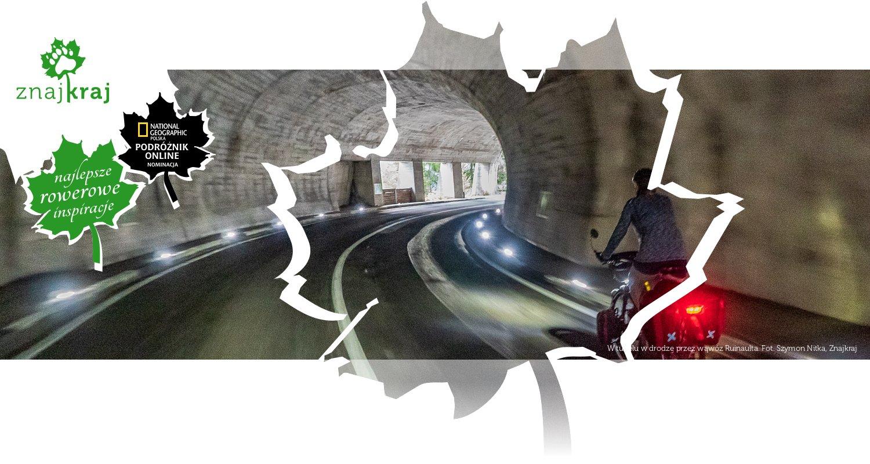 W tunelu w drodze przez wąwóz Ruinaulta