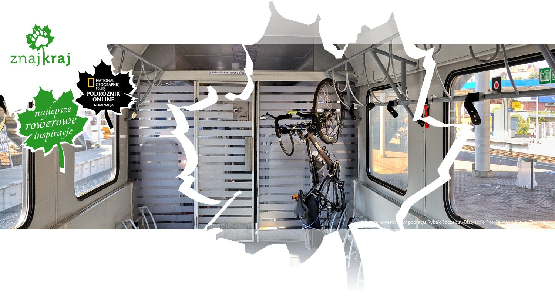 Wagon rowerowy w pociągu Rybak Szczecin-Białystok