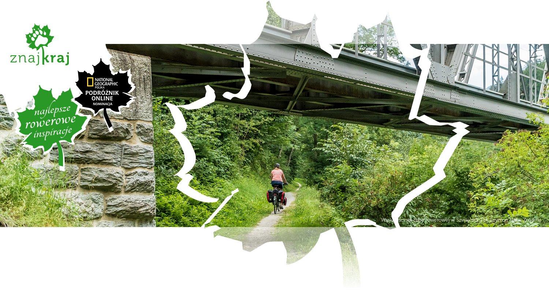 Wąski odcinek trasy rowerowej w Szwajcarii