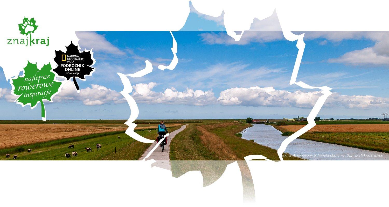 Wąski szlak rowerowy w Niderlandach
