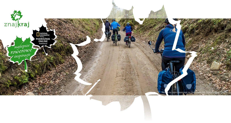 Wąwóz na trasie rowerowej za Glaznotami
