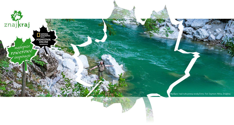 Wędkarz nad turkusową wodą Enns
