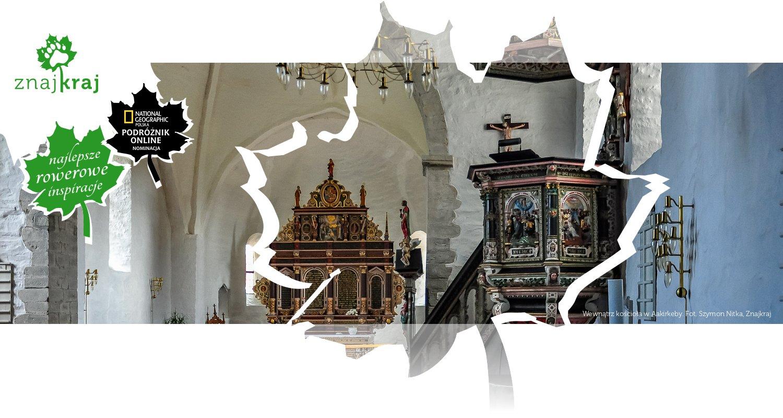 Wewnątrz kościoła w Aakirkeby