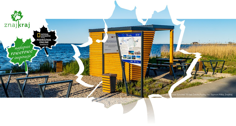 Wiata i miejsce postojowe EuroVelo 10 nad Zatoką Pucką