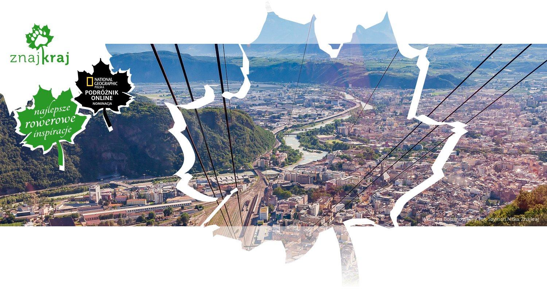 Widok na Bolzano z góry