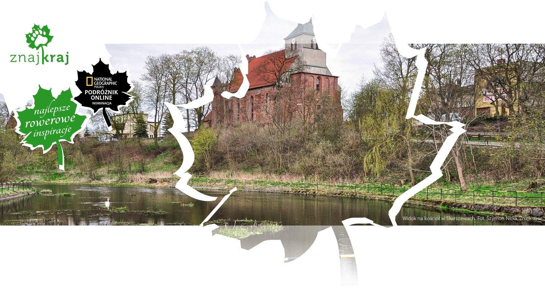 Widok na kościół w Skarszewach