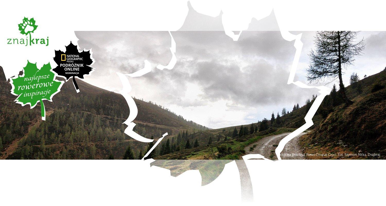 Widok na przełęcz Passo Cinque Croci
