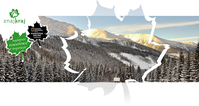 Widok na zimowe Tatry słowackie